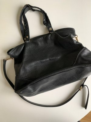 Massimo Dutti Shopper black-gold-colored