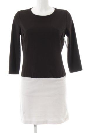 Massimo Dutti Etuikleid weiß-schwarz Casual-Look