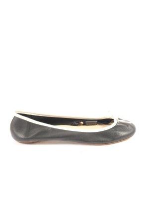 Massimo Dutti Foldable Ballet Flats black-cream casual look