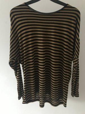 MASSIMO DUTTI Feinstrick Shirt Hemd XS-S Streifen