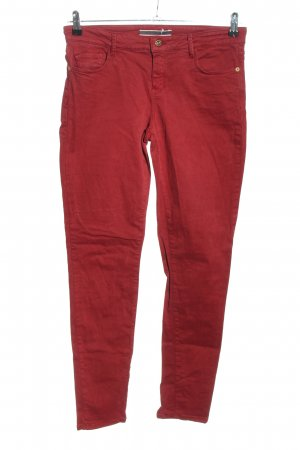 Massimo Dutti Five-Pocket Trousers red casual look