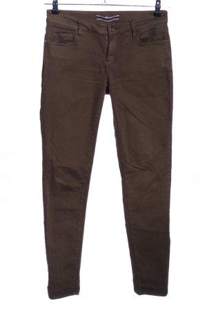 Massimo Dutti Five-Pocket-Hose braun Casual-Look