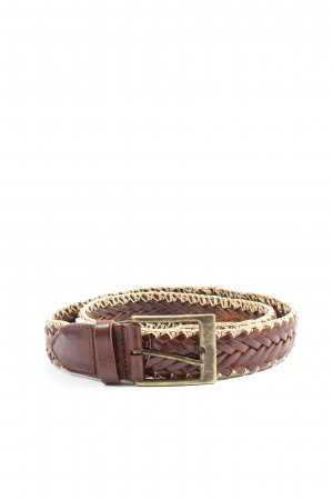 Massimo Dutti Braided Belt brown-natural white casual look