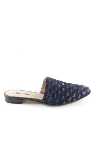 Massimo Dutti Flip Flop Sandalen blau-schwarz Casual-Look