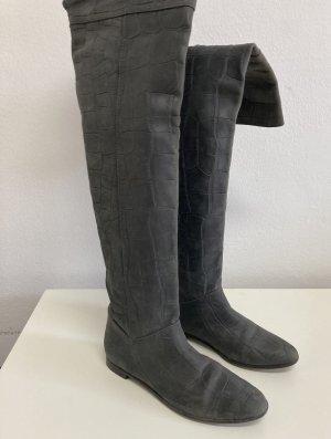 Massimo Dutti Buty nad kolano antracyt