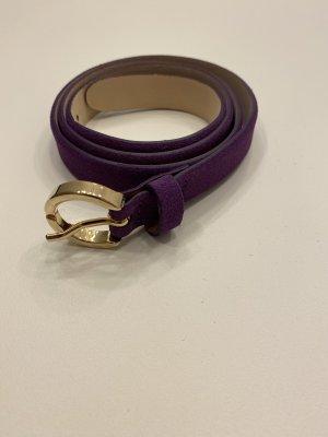 Massimo Dutti Ceinture en cuir violet