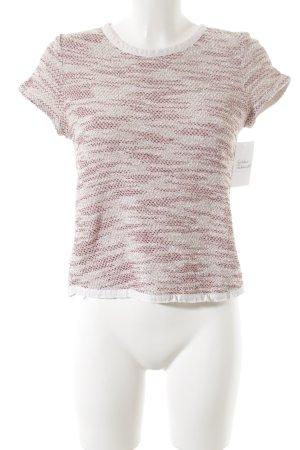 Massimo Dutti Gehaakt shirt gestreept patroon casual uitstraling