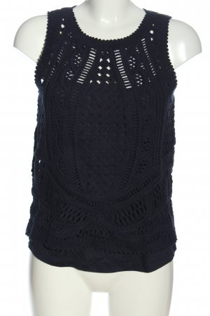Massimo Dutti Crochet Top blue casual look