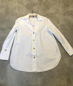 Massimo Dutti Chemise à manches longues blanc