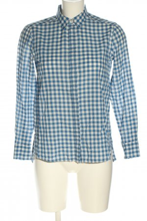 Massimo Dutti Hemd-Bluse blau-weiß Allover-Druck Casual-Look