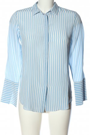 Massimo Dutti Hemd-Bluse blau-weiß Allover-Druck Business-Look