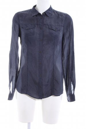 Massimo Dutti Hemd-Bluse blau Casual-Look