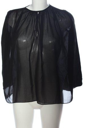 Massimo Dutti Hemd-Bluse schwarz Casual-Look