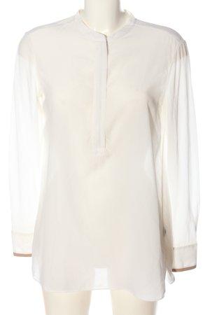 Massimo Dutti Blusa-camisa blanco estilo «business»