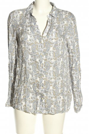 Massimo Dutti Hemd-Bluse Allover-Druck Business-Look