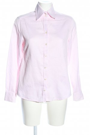 Massimo Dutti Hemd-Bluse pink-weiß Allover-Druck Business-Look