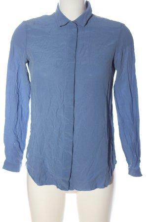 Massimo Dutti Hemd-Bluse blau Business-Look