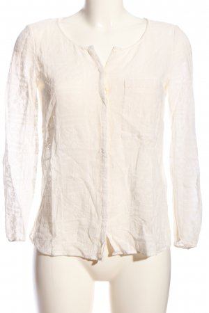 Massimo Dutti Hemd-Bluse wollweiß Business-Look