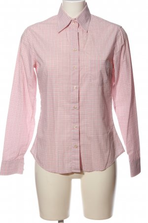 Massimo Dutti Hemd-Bluse pink-weiß Karomuster Business-Look