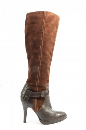 Massimo Dutti High Heel Boots brown casual look