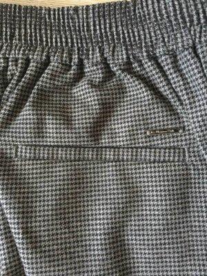 Massimo Dutti Pantalone a vita alta nero-grigio scuro Cotone