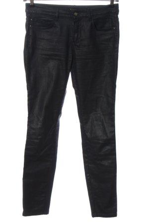 Massimo Dutti High Waist Trousers black casual look