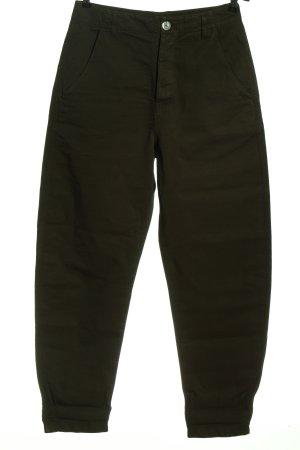 Massimo Dutti Pantalon taille haute kaki motif rayé style décontracté