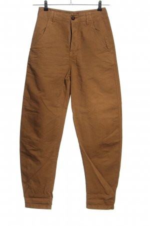 Massimo Dutti High Waist Trousers brown casual look