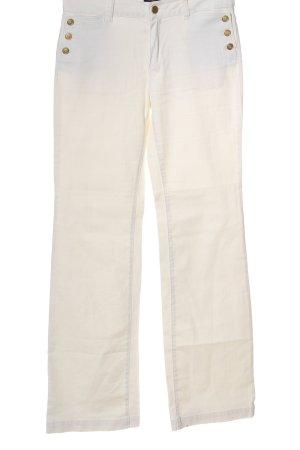 Massimo Dutti High Waist Jeans weiß Casual-Look