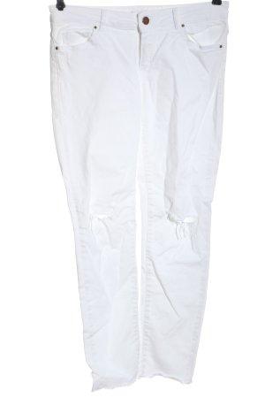 Massimo Dutti Vaquero hipster blanco elegante