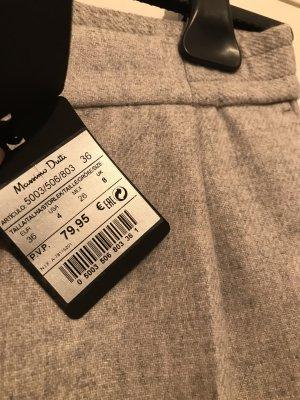 Massimo Dutti Pantalon en laine gris clair-gris