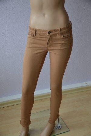 Massimo Dutti Hose Jeans Skinny Fit camel/gold Gr. 36