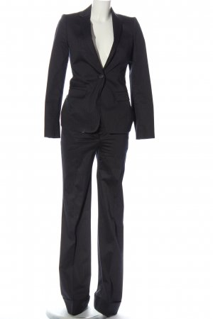 Massimo Dutti Garnitur damski czarny-biały Wzór w paski W stylu biznesowym