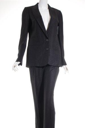 Massimo Dutti Broekpak wit-zwart krijtstreep zakelijke stijl