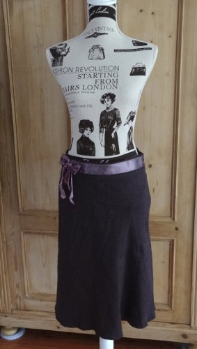Massimo Dutti Wool Skirt grey lilac-brown violet