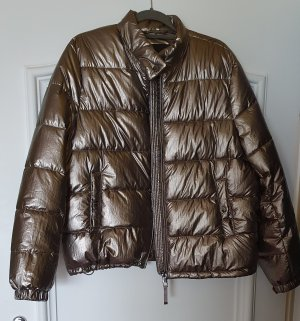 Massimo Dutti Quilted Jacket bronze-colored