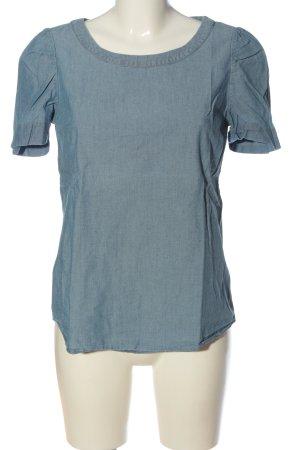 Massimo Dutti Jeansbluse blau Casual-Look