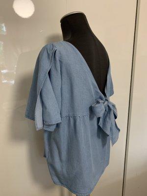 Massimo Dutti Blouse en jean bleu azur jean