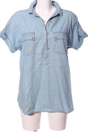 Massimo Dutti Chemise en jean bleu style décontracté