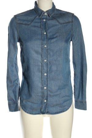 Massimo Dutti Jeansowa koszula niebieski W stylu casual