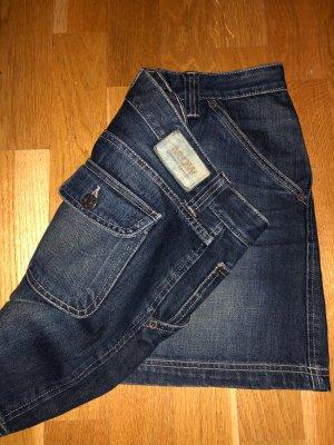 Massimo Dutti Denim Skirt dark blue