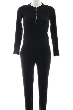 Massimo Dutti Jumpsuit schwarz Casual-Look