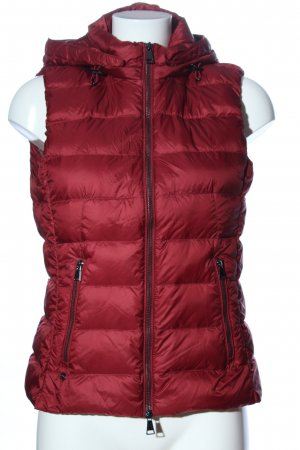 Massimo Dutti Hooded Vest red quilting pattern casual look