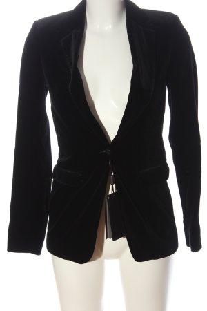 Massimo Dutti Klassischer Blazer negro estilo «business»