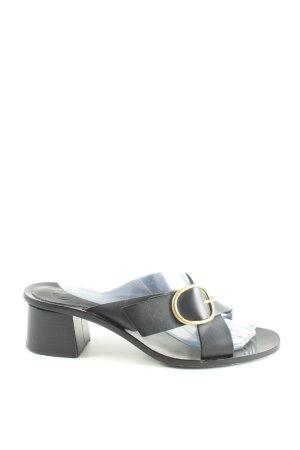 Massimo Dutti Komfort-Sandalen schwarz Casual-Look