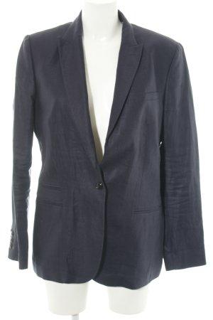 Massimo Dutti Kurz-Blazer blau Business-Look