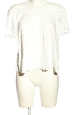 Massimo Dutti Top épaules dénudées blanc style décontracté