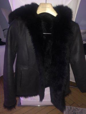 Massimo Dutti Podwójna kurtka czarny-czarno-brązowy