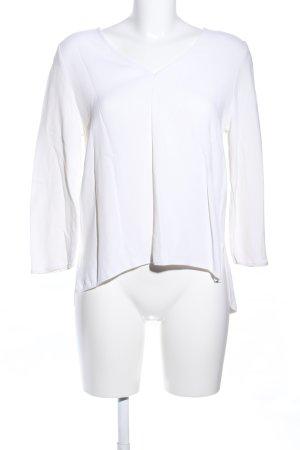 Massimo Dutti Langarm-Bluse weiß Casual-Look