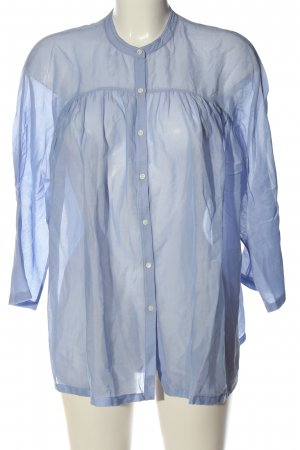 Massimo Dutti Langarm-Bluse blau Business-Look